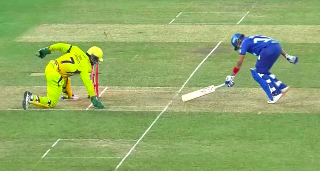 Prithvi Shaw's dismissal against CSK run out or stumping